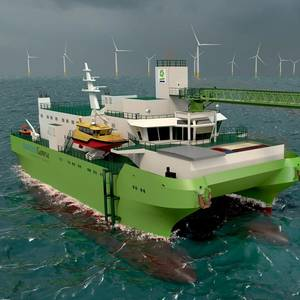 DEME Unveils First SOV for Offshore Wind