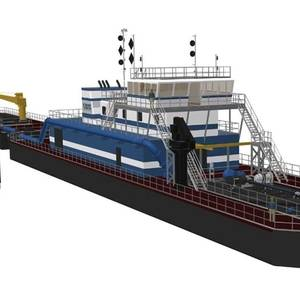 """Muddy Water Dredging Orders New 24"""" Dredge from DSC"""