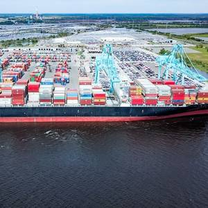 JAXPORT Receives Largest Ever Box Ship