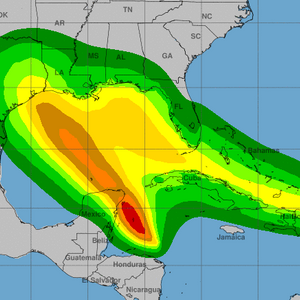 Two Storms Head for US Gulf in Rare Hurricane Season Event