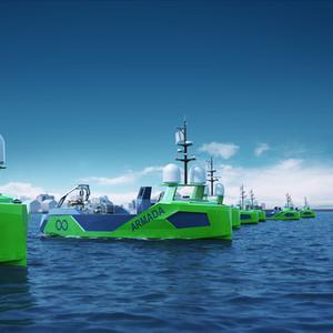 Kongsberg's LARS for Ocean Infinity's Armada Robotic Ships