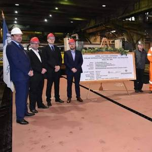 Brodosplit Cuts Steel for Expedition Ship