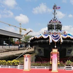 Italthai Launches Royal Thai Navy Tug
