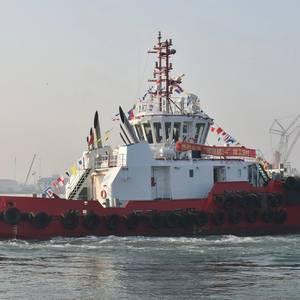 Sanlin Shipyard Delivers ASD Tug to Tianjin Port