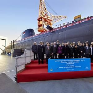 Singapore's Submarine Baptized in Kiel