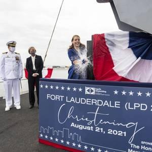 Amphibious Transport Dock Ship Fort Lauderdale (LPD 28) Christened