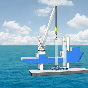 Barge Master Develops Motion Compensated Feeder for Next-Gen Wind Turbines