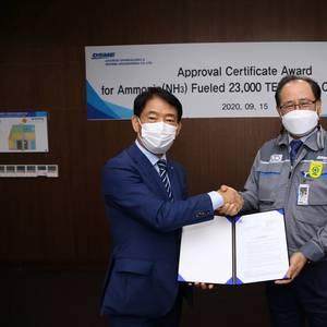 LR Awards AIP for Ammonia-fueled 23,000 TEU Box Ship