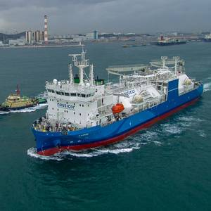 World's Largest LNG Bunker Vessel Sails for Delivery