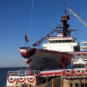 USCGC Kimball Christened; GE Marine Gas Turbines Provide Power