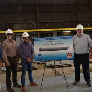 Conrad Cuts Steel for GLDD's New Dump Scows