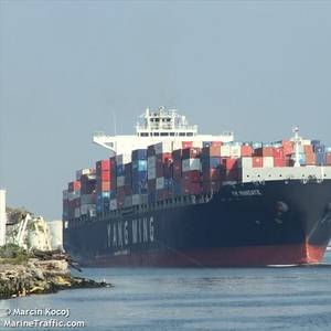 Containership with Cracked Hull Leaking Fuel Oil in Bayonne, NJ
