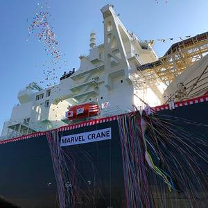 "MHI: LNG Carrier ""Marvel Crane"" Christened"