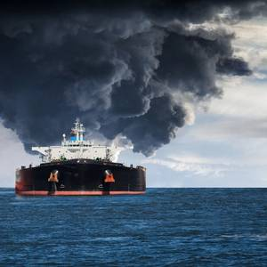 Ship Collision; Iranian Tanker Burns; 32 Missing