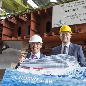 Meyer Werft Lays Keel of Norwegian Bliss