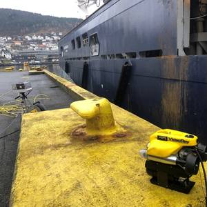 """World First"": Remote In-water Ship Surveys via ROV"