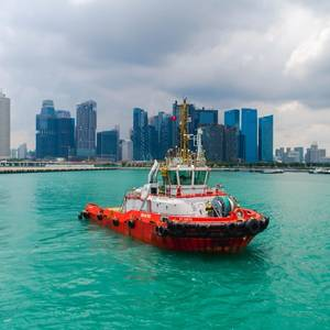 Tug Operates Under Remote Control in Singapore