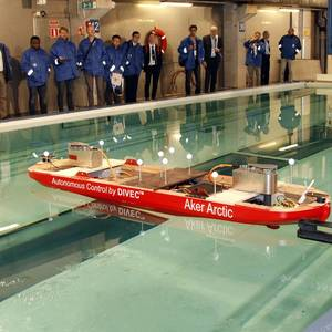 Aker Arctic Tests Autonomous Ship Model