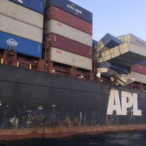 Face Masks Washing Ashore After Cargo Ship Loses Boxes