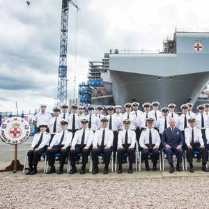 Prince Charles Places Final Section of UK Aircraft Carrier