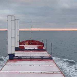Boomsma Cargo Ship Equipped With Wind Propulsion Units