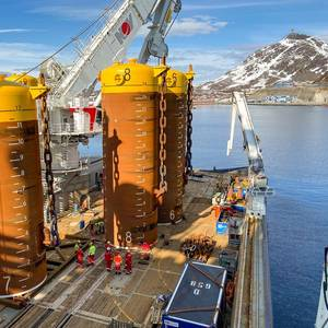 Photo: Johan Castberg Anchor System Installation Underway