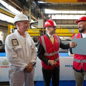 Fincantieri Cuts Steel on New Cunard Ship