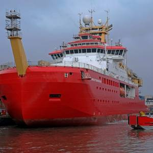 RRS Sir David Attenborough Starts Sea Trials