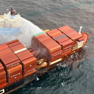 Weather Hampering Efforts to Board Fire-stricken Containership off Canada