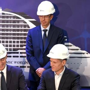 Steel Cut for 1st LNG-fueled Ship in France