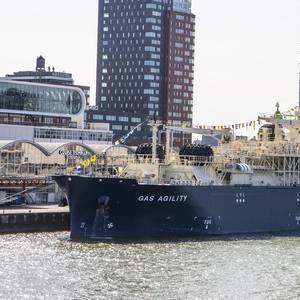 World's Largest LNG Bunkering Vessel Named in Rotterdam