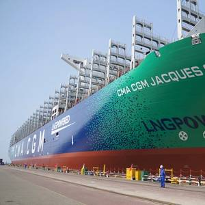 World's Largest LNG-fueled Containership Delivered