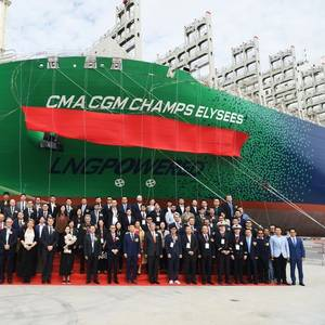 CMA CGM's Second 23,000 TEU LNG Containership Delivered