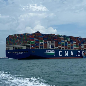 CMA CGM Box Ship Sets Loaded Containers Record