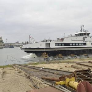 Damen Road Ferry Launched in Romania