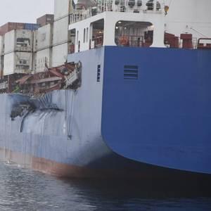Cargo Ships Collide in Danish Great Belt