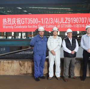 Steel Cut for Canada-bound Double Hull Oil Barge