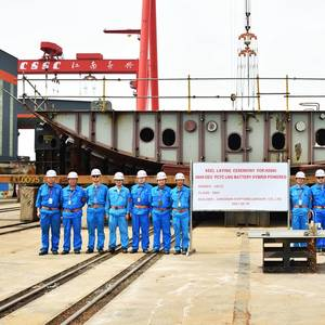 Keel Laid for UECC's Third LNG Battery Hybrid PCTC