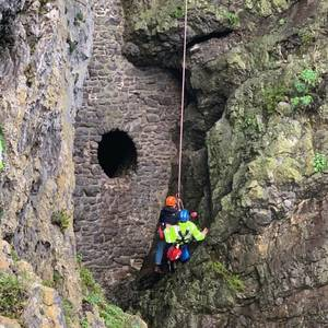 Rescue From Cliff At Culver Hole