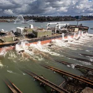 Greenbrier Launches Crowley's New Alaska Fuel Barge