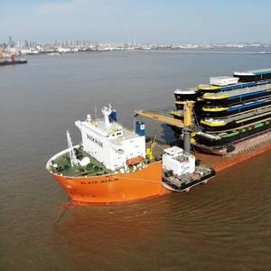 Concordia Damen Ships 18 Hulls to Rotterdam