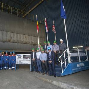 Keel-laying Ceremony for Hanson's MAD