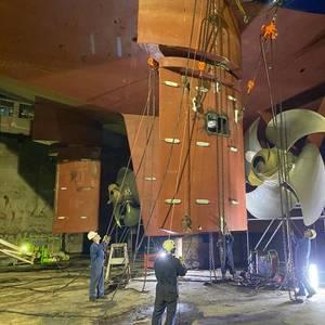 Damen Repairs P&O Ferries' Pride of Canterbury