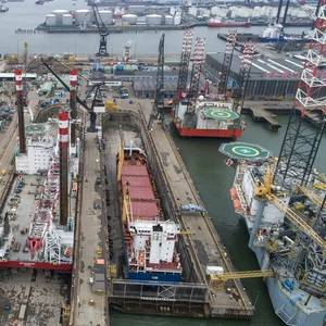 Refit for Jack-up at Damen Verolme Rotterdam