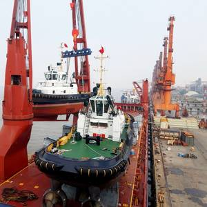 24 Damen Stock Vessels to Arrive in Port of Rotterdam