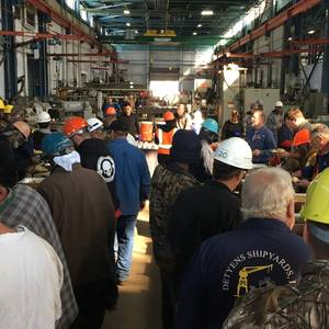 Detyens Shipyards Employees Feast Early