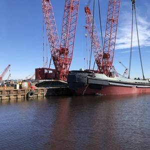 Eastern Shipbuilding Group Launches Ava M. McAllister