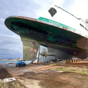 Washington State Ferries' Largest Vessel Enters Drydock