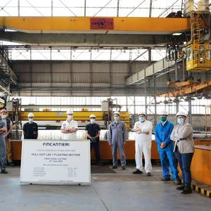 Fincantieri Begins Building Sections for French Navy Ships