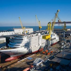 Silver Dawn Floated Out at Fincantieri's Ancona Shipyard